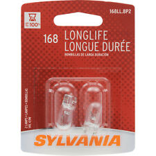 Sylvania 168 LongLife License Plate Bulbs - 2 Miniature Lamps - New SHIPS FREE