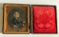 Daguerreotypie 1/6 Platte um 1860, Damen - Porträt  Foto