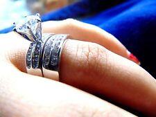 2.14 ct 14K White Gold Diamond Man made Round cut Wedding Engagement Lady's ring