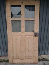 antik Türe mit Sprossenfenster alte Tür Holztüre natur