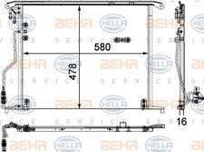 Kondensator, Klimaanlage für Klimaanlage HELLA 8FC 351 301-174