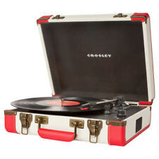 CROSLEY Executive Red White Portable USB Turntable Editing Software Retro 60's