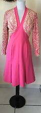 VTG 1950's-1960's SYDNEY NORTH CALIFORNIA Pink Sequence Part Dress! Rare!