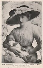 POSTCARD    ROYALTY    SPAIN  Queen  with  Princess  Maria  Christina