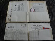TWO PRESS ONLY PHILADELPHIA FLYERS INFO PACKETS-1975 AND 1977-AMAZING PAPERWORK!