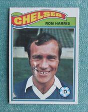 1978-79 TOPPS ENGLISH PREMIER SOCCER RON HARRIS #49 CHELSEA ORANGE BACK CARD