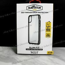 NEW! Griffin Survivor Clear 6H Case for Apple iPhone X   XS - Clear / Black