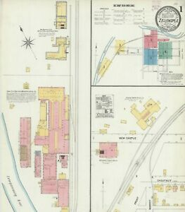 Zelienople, Pennsylvania~Sanborn Map© 21 maps~1906 to 1925~in full color