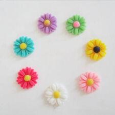 50X Wholesale DIY Resin Sunflower Flat Back Scrapbooking 4 Phone Craft Hair clip