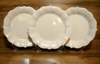 "SET OF 3 - THE PIONEER WOMAN - PAIGE LINEN WHITE - 10 1/2"" DINNER PLATES - EUC"