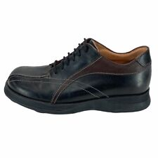 Alfani Mens 51921 Black Leather Round Toe Oxford Casual Shoes Lace Up Size 8