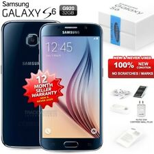 New Sealed Unlocked SAMSUNG Galaxy S6 SM-G920F Black 4G LTE Android Mobile Phone