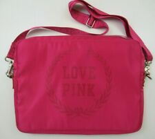 Love Pink Padded Laptop Bag with Strap Pink