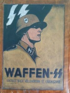 WW2 WAFFEN SS PRIVATE PURCHASE ENGRAVED OFFICERS WOODEN VALET BOX & CONTENTS
