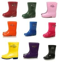 Silky Toes Boys Girls Rain Boots, Waterproof Classic Wellies