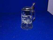 M CORNELL GLASS LIDDED STEIN BI PLANES  IN WHITE GERMANY FREE US SHIPPING