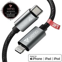 Vena [3FT] 2x MFI Certified USB C to Lightning Fast Charging Sync Charge Cable