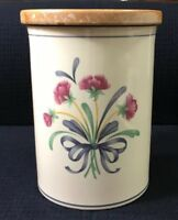 "Poppies on Blue Utensil Holder Or Canister 6.75"" By 5.25""Lenox Chinastone USA"