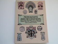 Monograms and Decorations from the Art Nouveau Wilhelm Diebener 9780486243478
