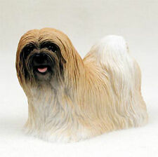 Lhasa Apso Figurine Hand Painted Collectible Statue Brown
