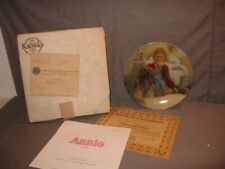 "Edwin M Knowles Little Orphan""Annie And Sandy"" Collector Plate #14224T 1982 Mib"