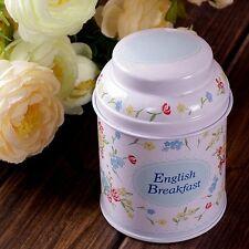 Retro Style English Breakfast Home Kitchen Metal Coffee Tea Container Jar Tin