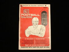 1973 Sports Guide Series Football Guide - VG-EX