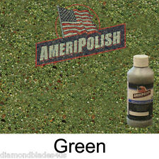 1 GL. Green CONCRETE COLOR DYE 4 CEMENT, STAIN AMERIPOLISH Solvent based