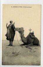 (Gk438-172) Ethnic Priere au Desert, Camel c1910 VG-EX