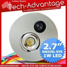 12V KITCHEN BED DUAL MOUNT LED SWIVEL SPOT LIGHT - CAMPER/TRAILER/BOAT/CARAVAN