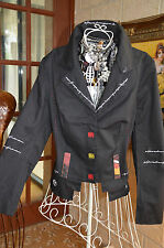 ***CARLOTTA *** STYLISH *** EMBROIDERY DETAIL LINED JACKET SZ 8 *** NEW