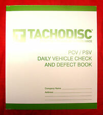 Tachodisc PSV Daily Vehicle Check And Defect Book T20P