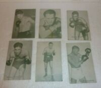 Antique Lot of 6 RPPC Boxer Photos Boxing Fighters  S-29