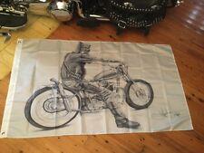 Ned Kelly aussie outlaw Harley Davidson Bundaberg rum 5 x 3 ft MANCAVE Bar flag