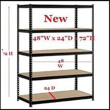 Steel Metal Storage Shelf Garage Heavy Duty 5 Shelves Adjustable Rack 4000 Lbs.
