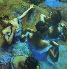 Blue Dancers by Edgar Degas, Giclee Canvas Print, in various sizes