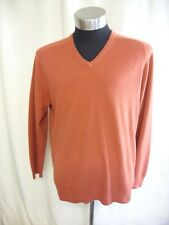 """Mens Jumper Wolsey XL, chest 44-46"""", colour rust, acrylic, used, bobbling 0214"""