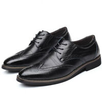 Men's Wingtip Smart Dress Formal Office Shoes Faux Leather Brogue Oxfords Casual