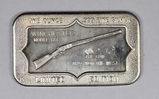Limited Edition Winchester Model 1873 .999 Fine 1oz Silver Art Bar