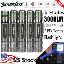 5PCS Skywolfeye 3000LM CREE XM-L T6 LED Zoomable 18650 Flashlight Torch Bright