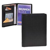Esquire Schreimappe A5 Leder schwarz mit Reißverschluss (Business)