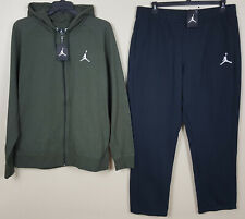 efbe0284802e94 NIKE AIR JORDAN LITE FLEECE SWEATSUIT HOODIE +PANTS OLIVE GREEN BLACK (SIZE  3XL)