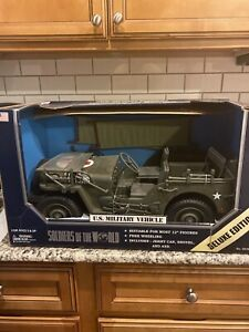 RARE Soldiers Of The World US Military VehicleMedical Jeep 1998 NIB 1/6 scale