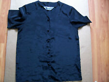 Black polyester casual short sleeve blouse from Compliments, Size 10