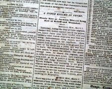 MERIDIAN MS Mississippi Freedmen RACE RIOT Ku Klux Klan KKK 1871 Old Newspaper
