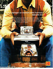 PUBLICITE ADVERTISING 026  2004  Kodak  appareil photo EasyShare