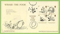 G.B. 2010 Winnie The Pooh M/S on Royal Mail First Day Cover, Hartfield