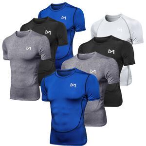 Funktionsshirt Herren Kurzarm Kompressionsshirt Laufshirt Fitness Running Shirts