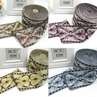 Stitchwork Woven Lace Embroider Border Jacquard Ribbon DIY Sewing Cafts Trims