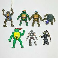 Teenage Mutant Ninja Turtle Lot Of 7 Micro  Figures